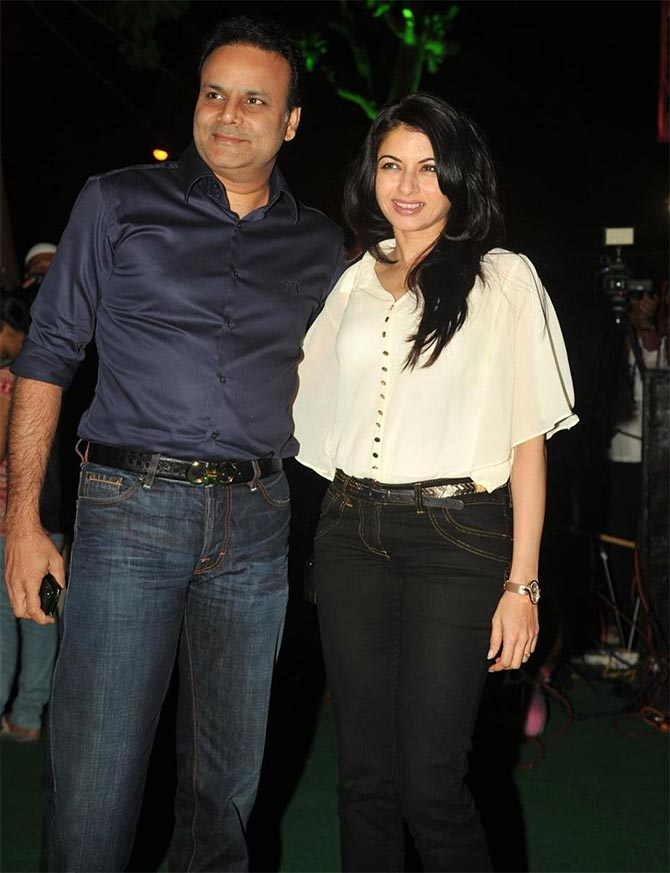 Bhagyashree with her husband Himalay
