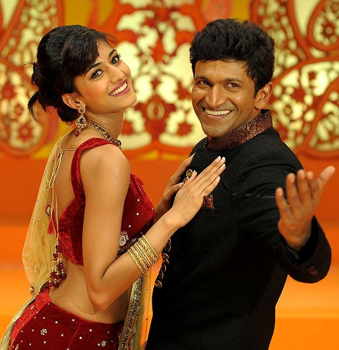Puneeth Rajkumar, Erica Fernandes in Ninnindale