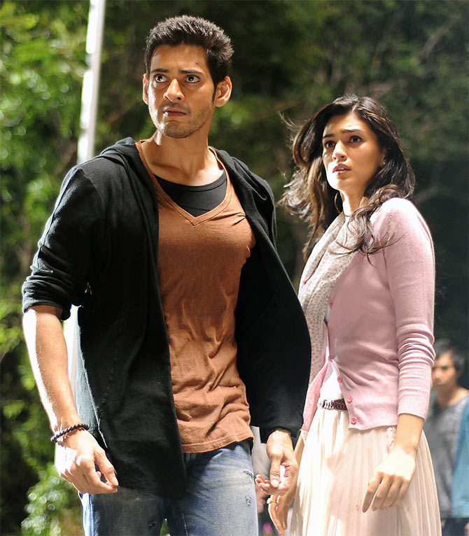 Mahesh Babu and Kriti Sanon in 1 Nenokkadine