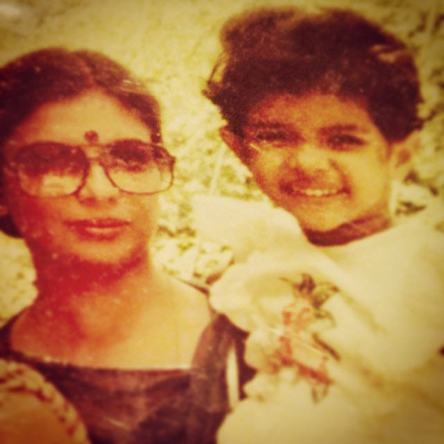 Priyanka Chopra with her mother