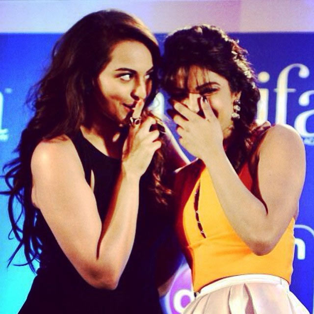 Priyanka Chopra with Sonakshi Sinha