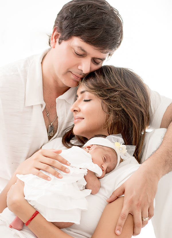 Lakshmi Manchu with Andy and their baby