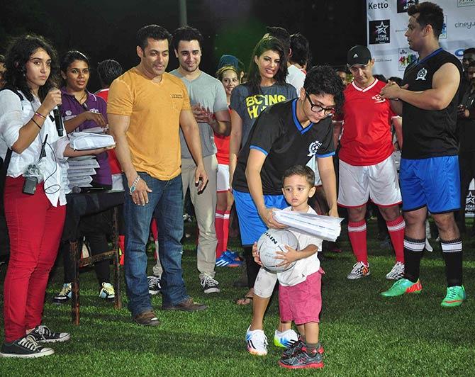 Ira Khan, Salman Khan, Imran Khan, Jacqueline Fernandez, Aamir Khan, Kiran Rao