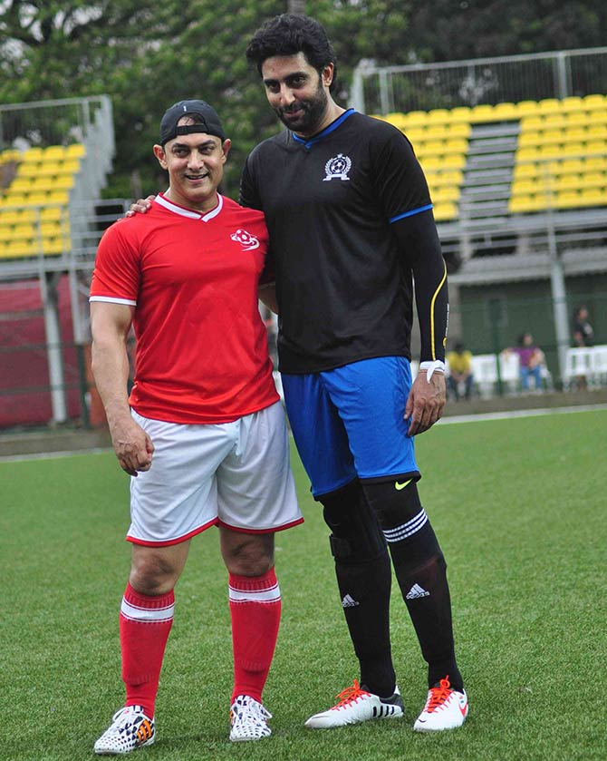 Aamir Khan and Abhishek Bachchan
