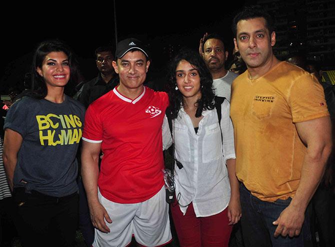 Jacqueline Fernandez, Aamir Kha, Ira Khan, Shera, Salman Khan