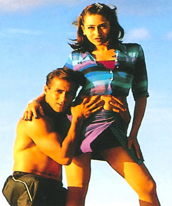 Karisma Kapoor and Salman Khan in Judwaa.