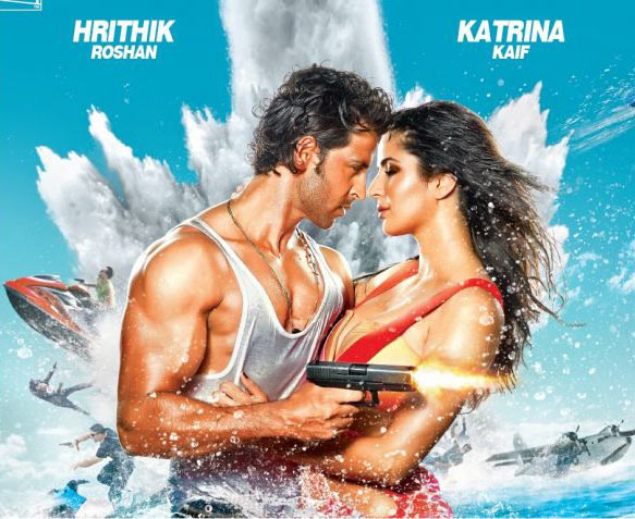 Hrithik Roshan and Katrina Kaif on the poster of Bang Bang