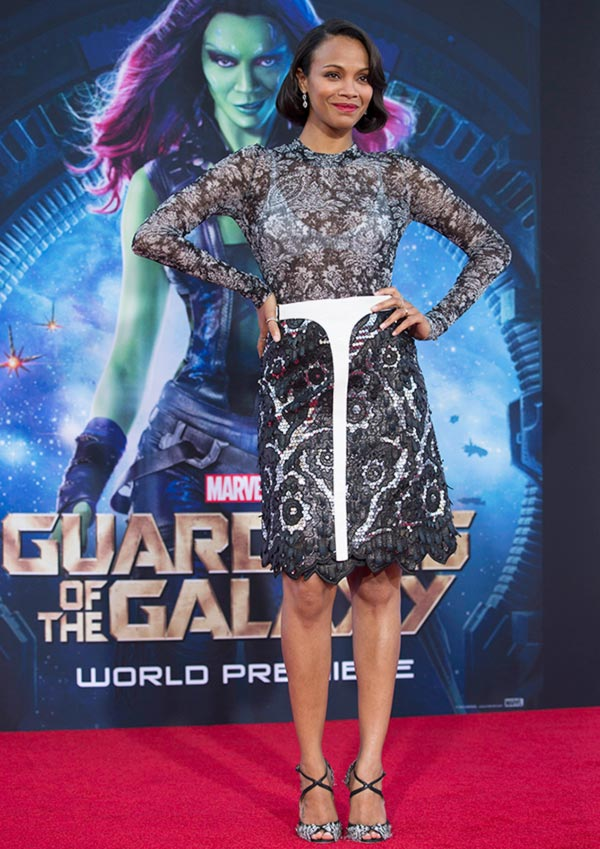 Current Bollywood News & Movies - Indian Movie Reviews, Hindi Music & Gossip - PIX: Zoe Saldana, Bradley Cooper at Guardians of Galaxy premiere