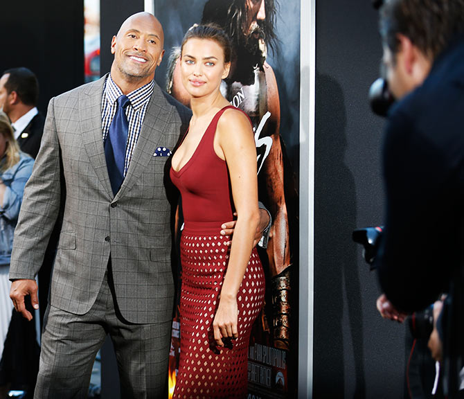 Dwayne Johnson and Irina Shayk