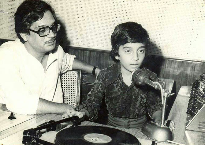 Master Raju with Gulzar