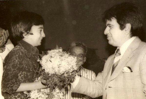 Master Raju with Dilip Kumar