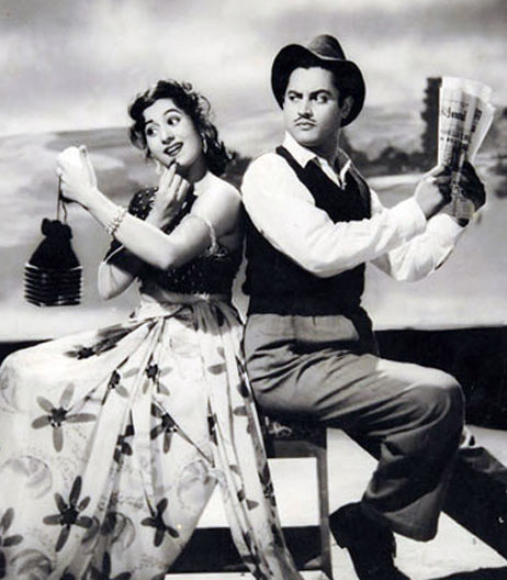 Guru Dutt and Madhubala in Mr. & Mrs. 55