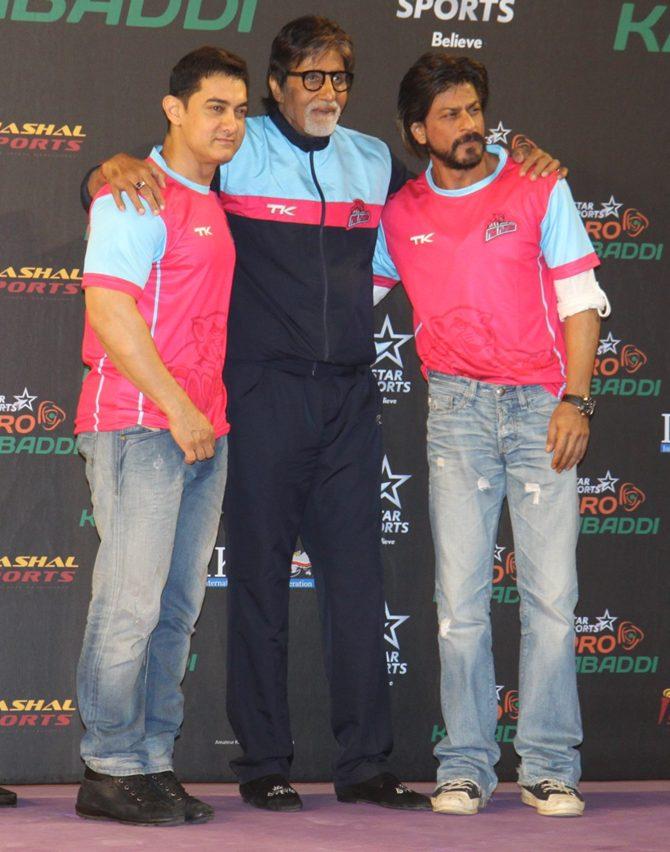 Aamir  Khan, Amitabh Bachchan and Shah Rukh