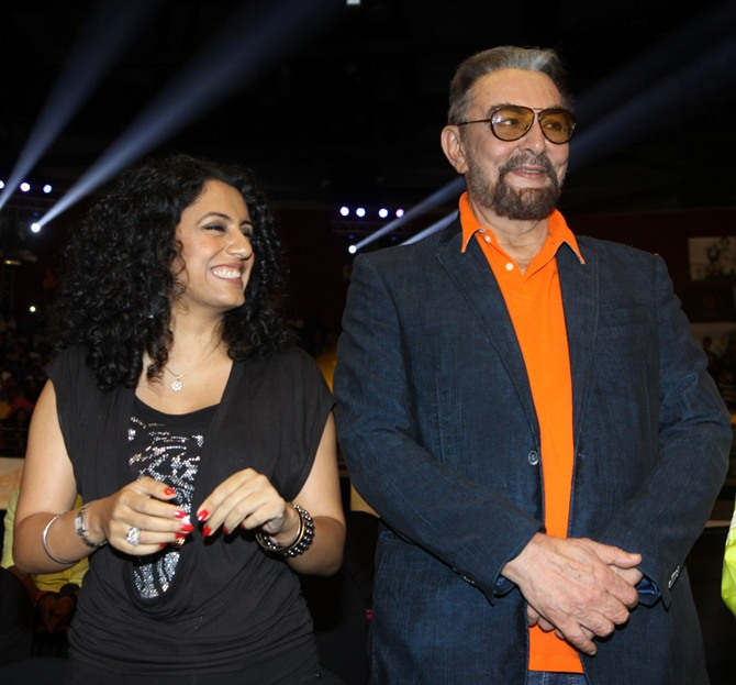 Parveen Dusanj and Kabir Bedi
