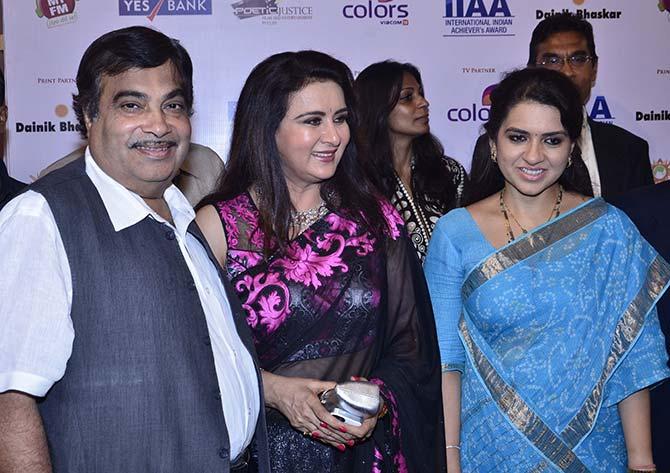 Nitin Gadkari and Shaina NC