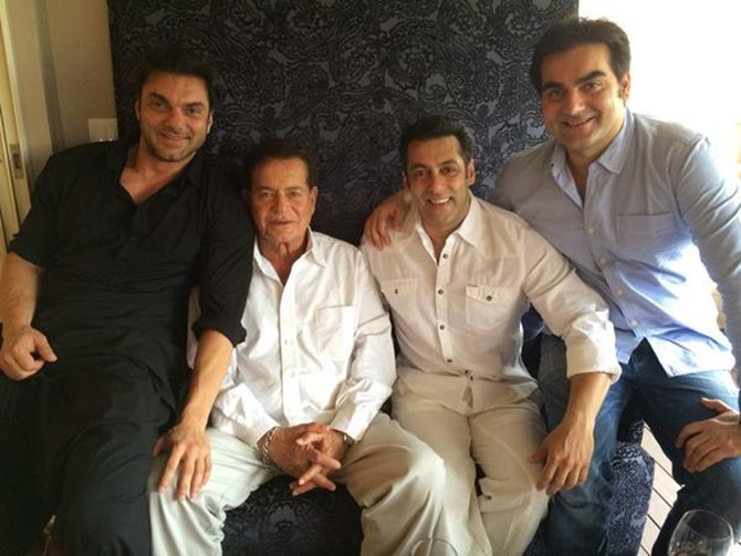 Sohail, Salim, Salman and Arbaaz Khan