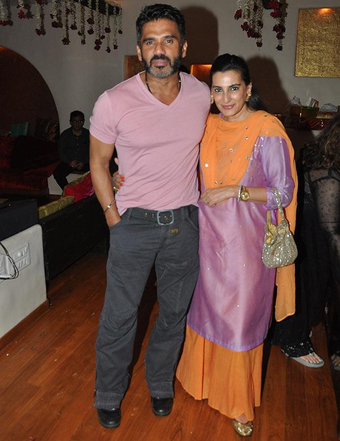 Sunil and Mana Shetty