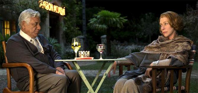 Om Puri and Helen Mirren in The Hundred-Foot Journey.