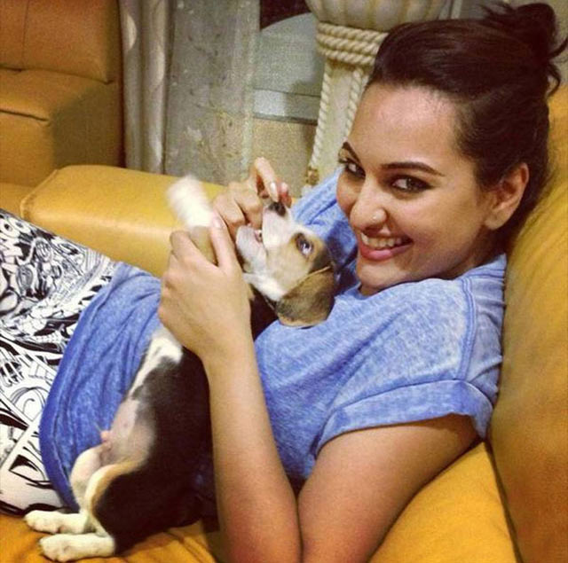 Sonakshi Sinha with Kuro
