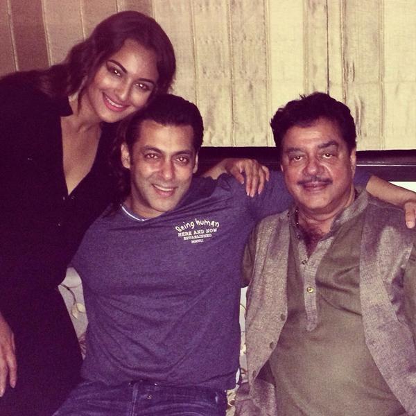 Sonakshi Sinha, Salman Khan and Shatrughan Sinha