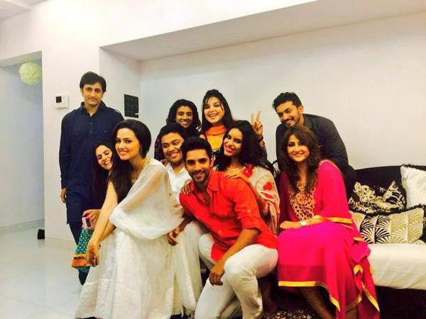 Sana Khan with her friends