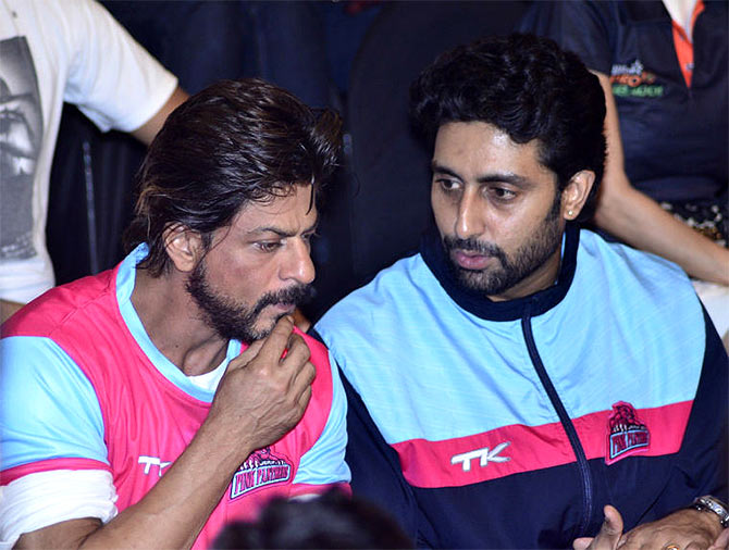 Shah Rukh Khan and Abhishek Bachchan