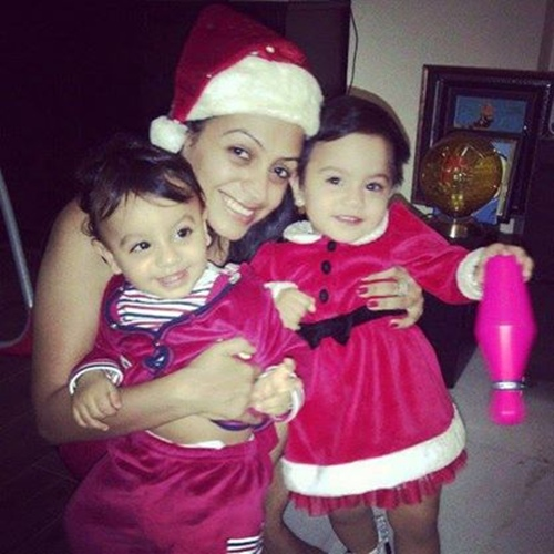 Ashita Dhawan with Arhmaan and Amaira