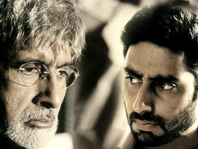 Amitabh Bachchan and Abhishek Bachchan in Sarkar
