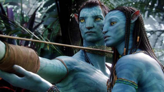 Sam Worthington, Zoe Saldana in Avatar