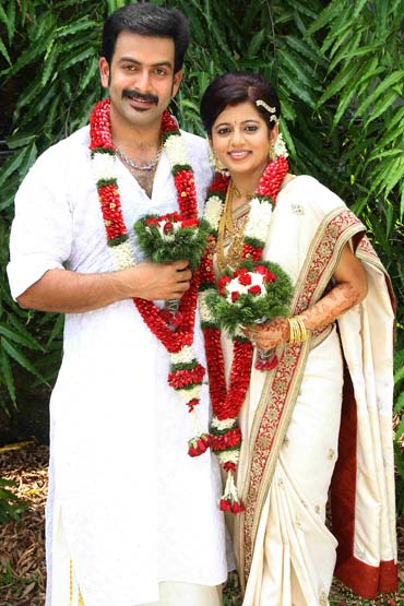 Prithviraj and Supriya Menon
