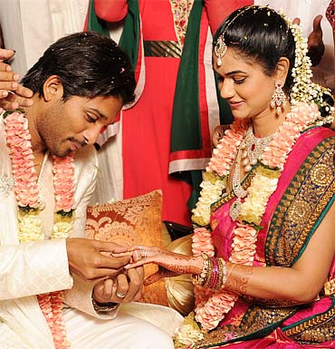 Allu Arjun and Sneha Reddy