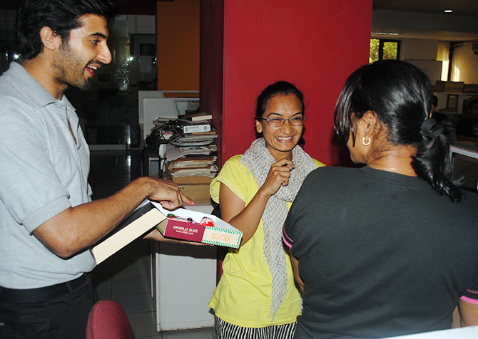 Akshay Oberoi with Rediff staffers