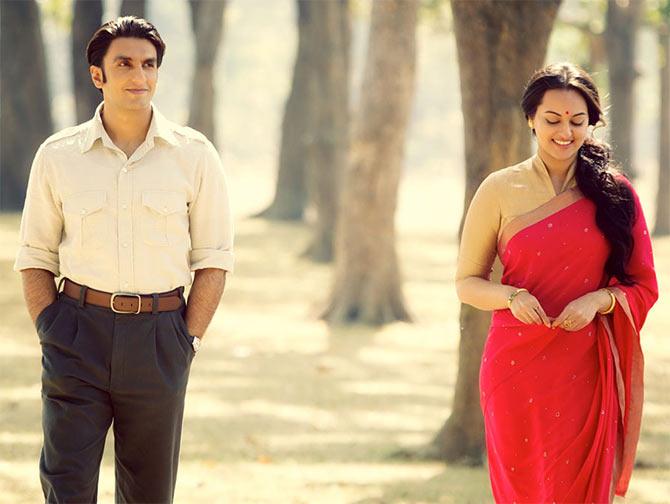 Ranveer Singh and Sonakshi Sinha in Lootera