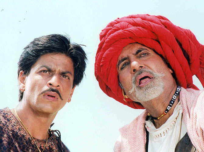 Shah Rukh Khan and Amitabh Bachchan in Paheli