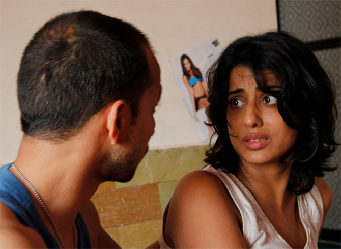 Deepak Dobriyal and Mahie Gill in Not A Love Story