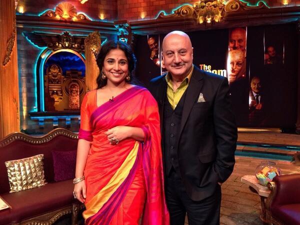 Vidya Bakan and Anupam Kher