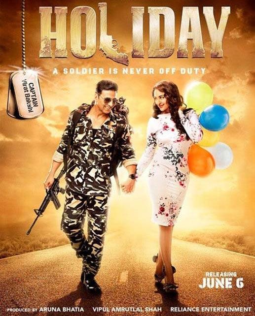 Akshay Kumar and Sonakshi Sinha in Holiday