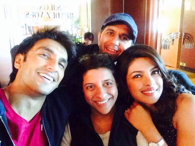 Ranveer Singh, Zoya Akhtar, Ritesh Sidhwani and Priyanka Chopra.