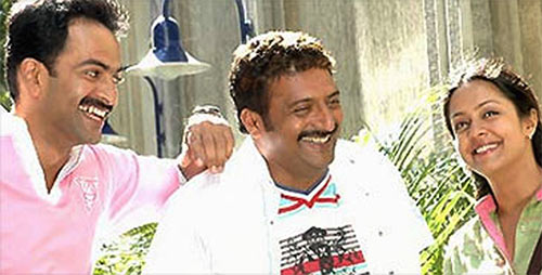 Prithviraj, Prakash Raj and Jyotika in Mozhi
