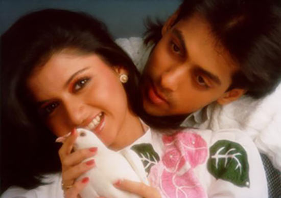 Bhagyashree and Salman Khan in Maine Pyar Kiya
