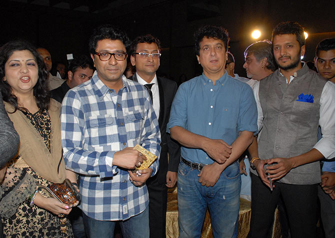 Sharmila and Raj Thackeray, Sajid Nadiadwala and Riteish Deshmukh