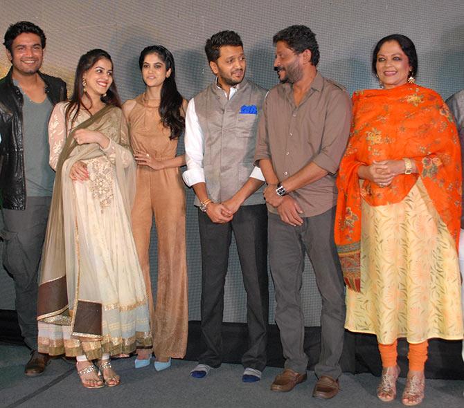 Sharad Kelkar, Genelia D'Souza, Aditi Pohankar, Riteish Deshmukh, Nishikant Kamat and Tanvi Azmi