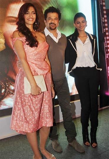 Sonam, Anil and Rhea Kapoor