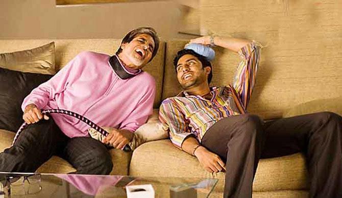 Amitabh Bachchan and Abhishek Bachchan in Kabhi Alvida Naa Kehna