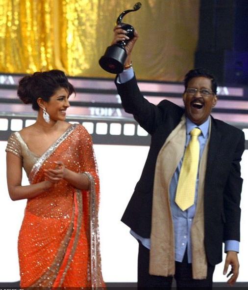 Priyanka Chopra with father Dr Ashok Chopra