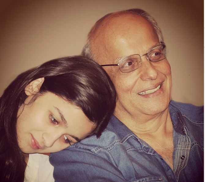Alia with Mahesh Bhatt
