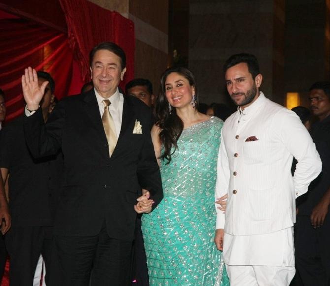 Randhir Kapoor, Kareena Kapoor and Saif Ali Khan