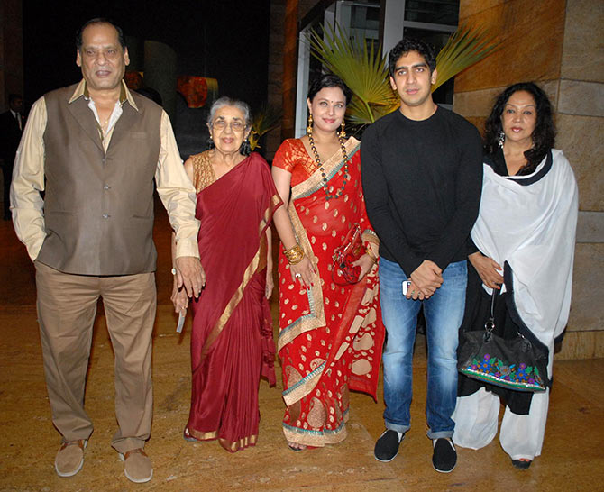 Ayan Mukherji with his family