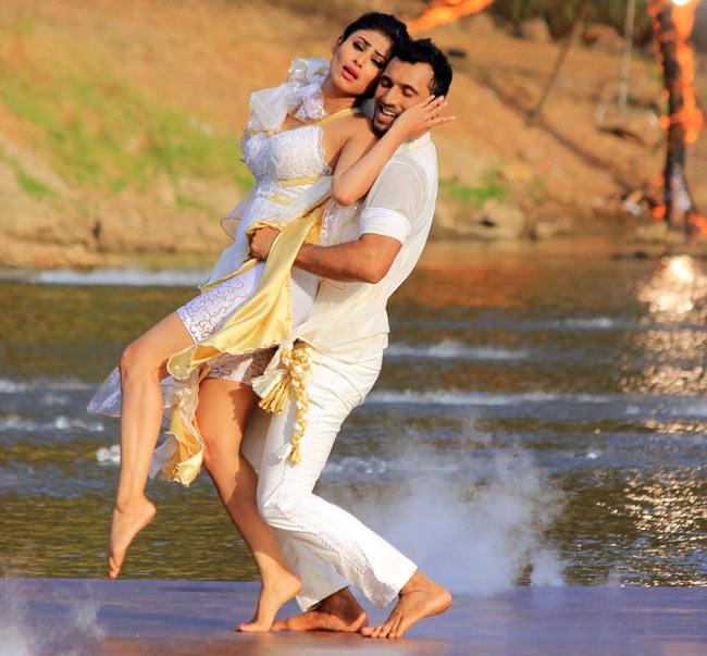 Mouni Roy and Puneet Pathak