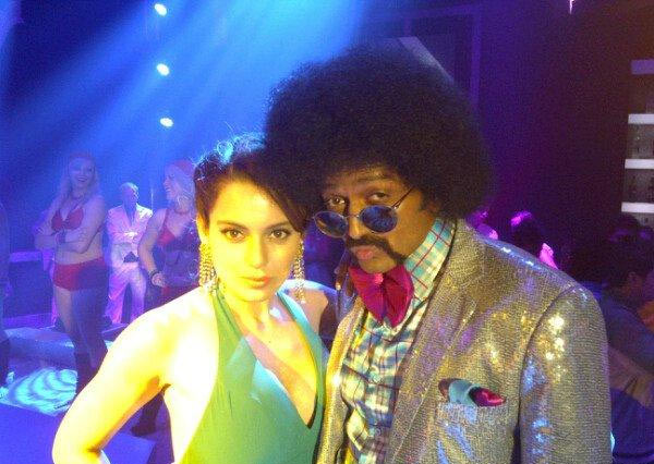 Kangna Ranaut and Riteish Deshmukh in Double Dhamaal